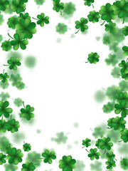 Saint Patricks day frame. EPS 10 vector