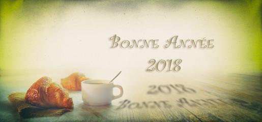 Canvas Prints Coffee beans 2018,café croissant