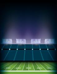 American Football Field Stadium Background Illustration
