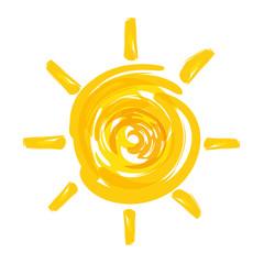 summer sun painted icon