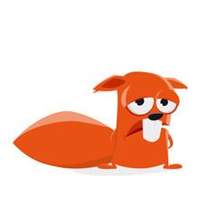sad squirrel clipart