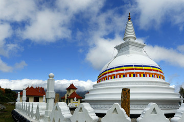 stupa in buddhist temple