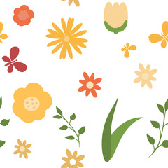 Seamless beautiful spring pattern