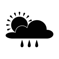 weather cloud rainy with sun