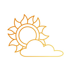 summer sun with clouds
