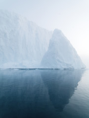 Glaciers on arctic ocean in Greenland