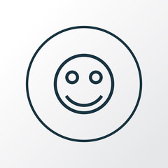 Smile icon line symbol. Premium quality isolated tag face element in trendy style.