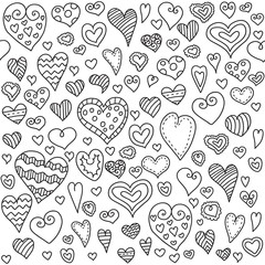 Love hearts seamless pattern. Seamless pattern can be used for wallpaper,  pattern fills, web page background,  surface textures.