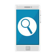 smartphone device with magnifying glass