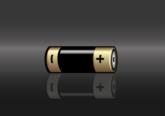 A color horizontal battery icon. Vector illustration