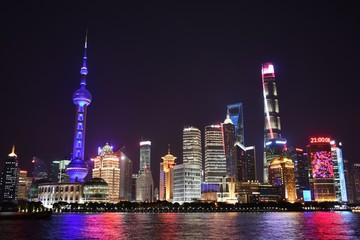 Shanghai Skyline with Pearl River