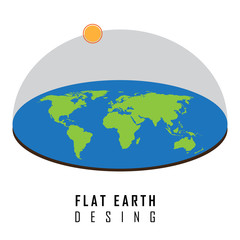 Flat earth desing concept illustration vector graphic