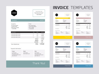 Invoice template set