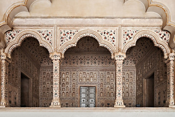 Wall Mural - Many arches inside Red Fort