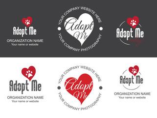Adopt me. For Dog Cat Pet adoption. Help homeless animal concept.