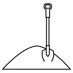 sand with shovel icon