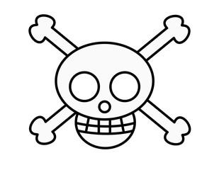 海賊マーク(色)