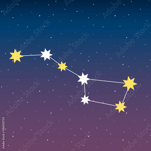 big dipper constellation astrology stars night space blue