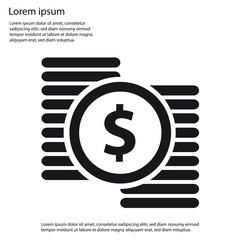 Dollar Money Concept Flat Icon