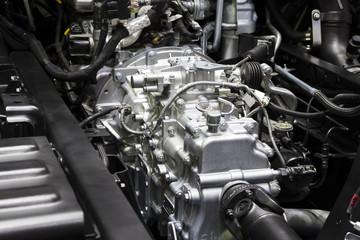 Detail of truck transmission power