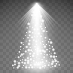 Christmas lights isolated on transparent background. Vector illustration
