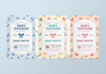 3 Baby Shower Invitation Layouts