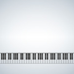 piano template, music creative concept illustration with blank space for text