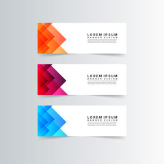 Modern Banner With bright triangle colors