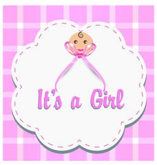 Baby girl gender reveal vector