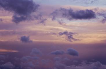 Sunrise sunset purple, pink and blue cloudy sky