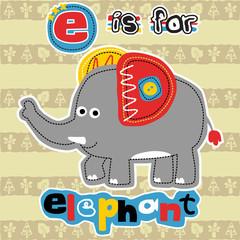 Big elephant cartoon