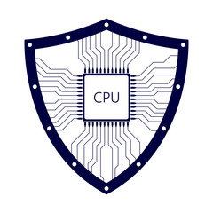 Shield with processor