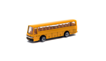 Bus toy on white background