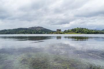 Castle Tioram - a ruined castle on a tidal island in Loch Moidart, Lochaber, Highland, Scotland