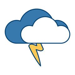 Cloud with rain symbol icon vector illustration graphic design