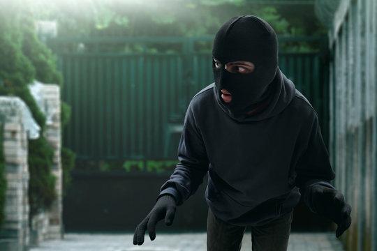 Masked thief sneak