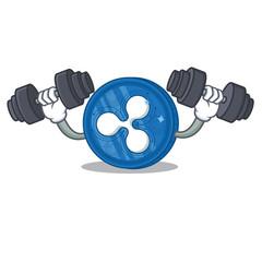 Fitness Ripple coin character cartoon