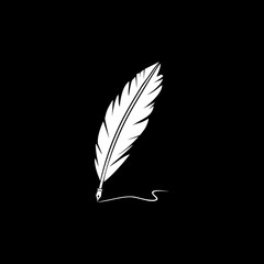 Quill silhouette vector icon