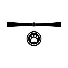 collar pet icon image vector illustration design  black