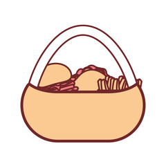 picnic basket  vector illustration