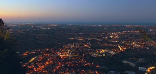 Cityligths from San Marino