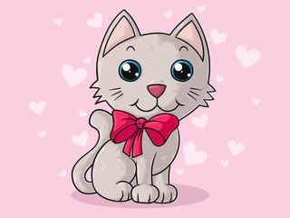 Süße Comic Katze