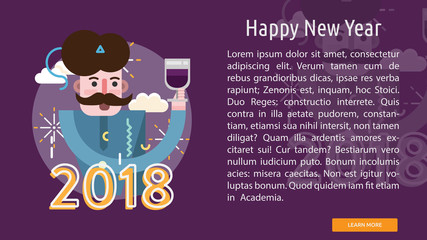 Happy New Year Conceptual Banner