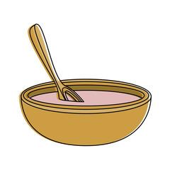 Spa oil in bowl icon vector illustration graphic design
