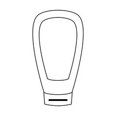 Skin Cream bottle icon vector illustration graphic design