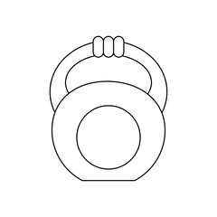 kettlebell gym weight icon vector illustration graphic design