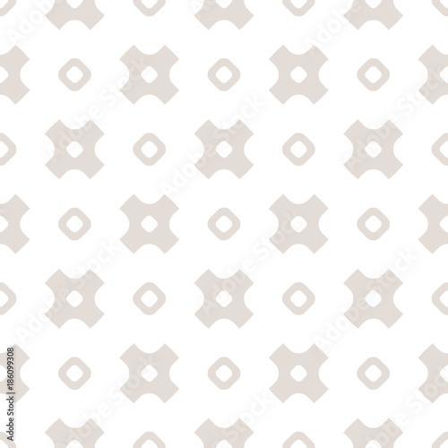 Vector minimalist seamless pattern with simple geometric