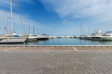 Yachthafen Renderbackplate von Santa Eularia auf Ibiza Spanien 2