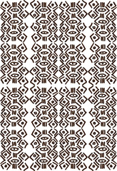 African tribal aborigines painting. Geometric seamless patterns. White background