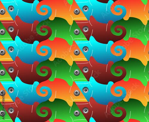 Seamless Pattern Of Lizards Tessellation Stockfotos Und Lizenzfreie Vektoren Auf Fotolia